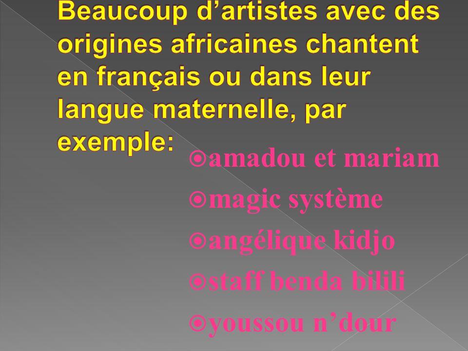 amadou et mariam magic système angélique kidjo staff benda bilili