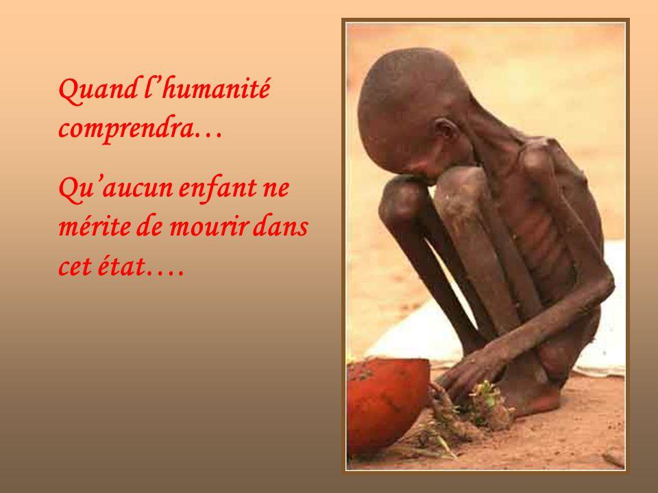 Quand l'humanité comprendra…