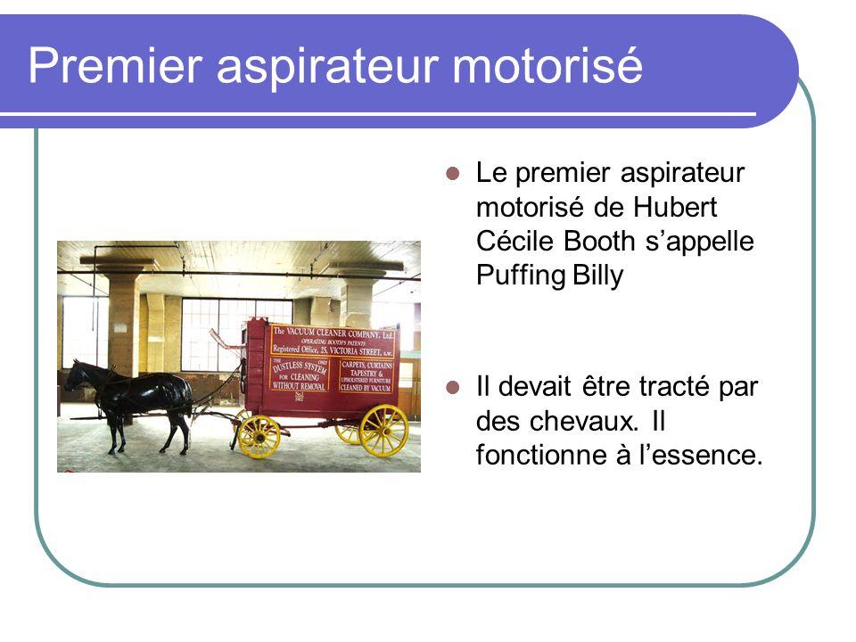 Premier aspirateur motorisé