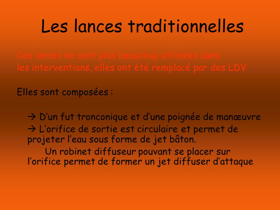 Les lances traditionnelles