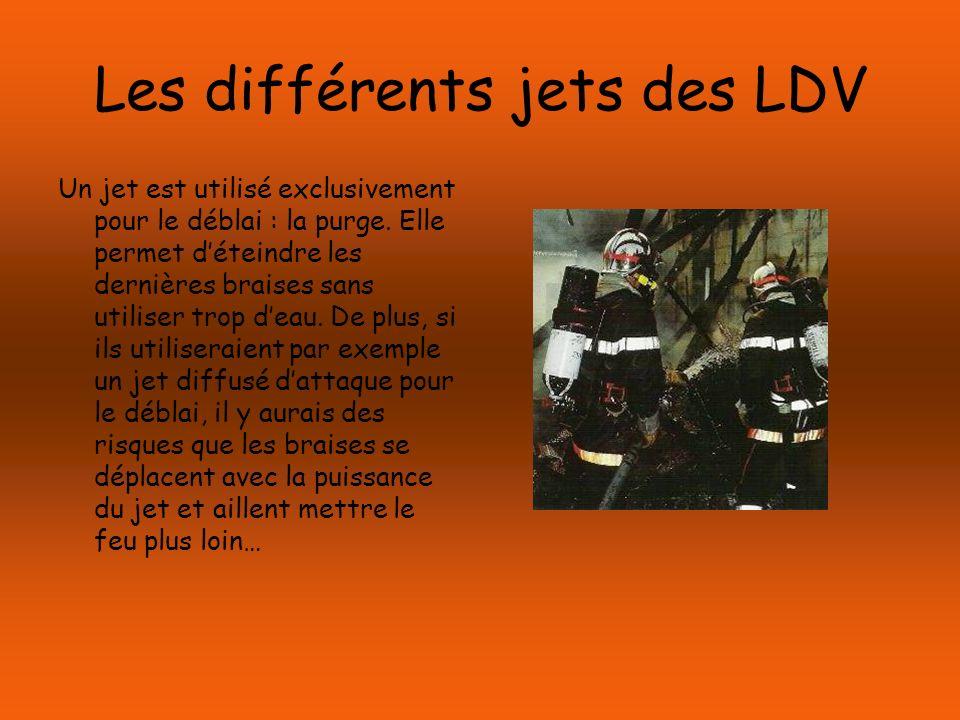 Les différents jets des LDV