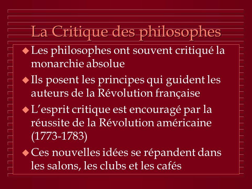 La Critique des philosophes