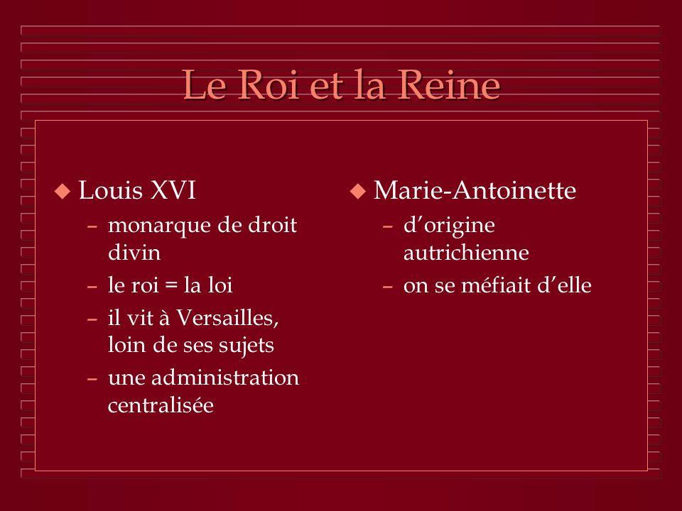 Le Roi et la Reine Louis XVI Marie-Antoinette monarque de droit divin