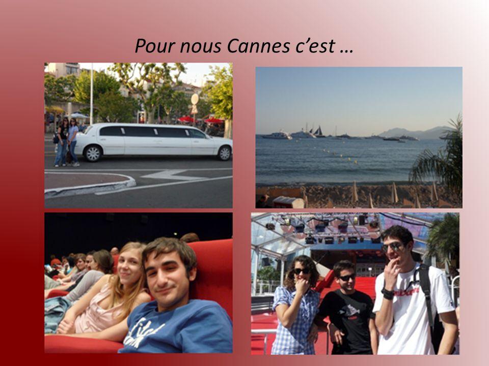 Pour nous Cannes c'est …