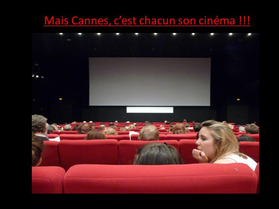 Mais Cannes, c'est chacun son cinéma !!!