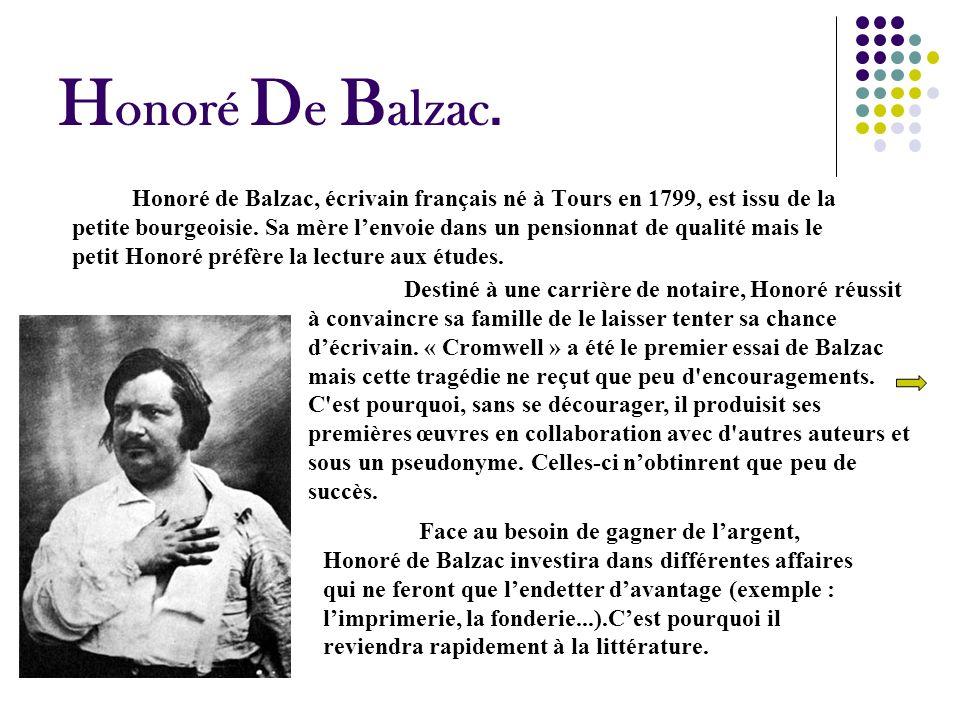 Honoré De Balzac.