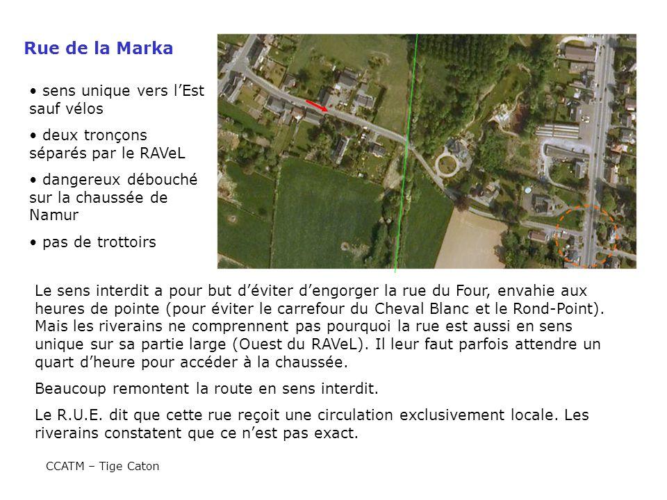 Rue de la Marka sens unique vers l'Est sauf vélos