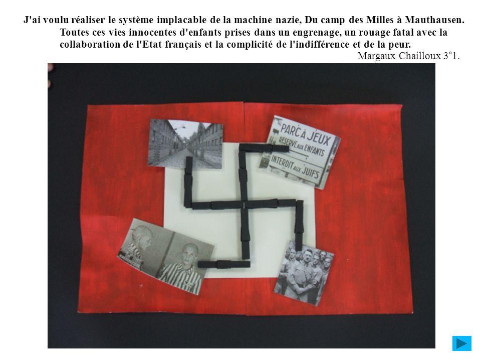 J ai voulu réaliser le système implacable de la machine nazie, Du camp des Milles à Mauthausen. Toutes ces vies innocentes d enfants prises dans un engrenage, un rouage fatal avec la collaboration de l Etat français et la complicité de l indifférence et de la peur.