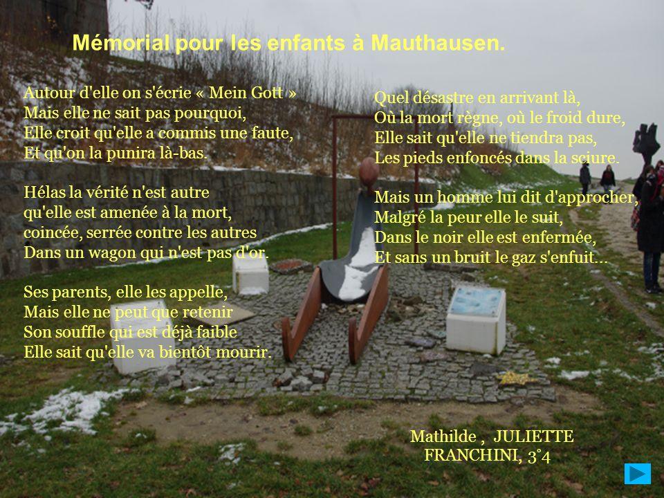 Mémorial pour les enfants à Mauthausen.