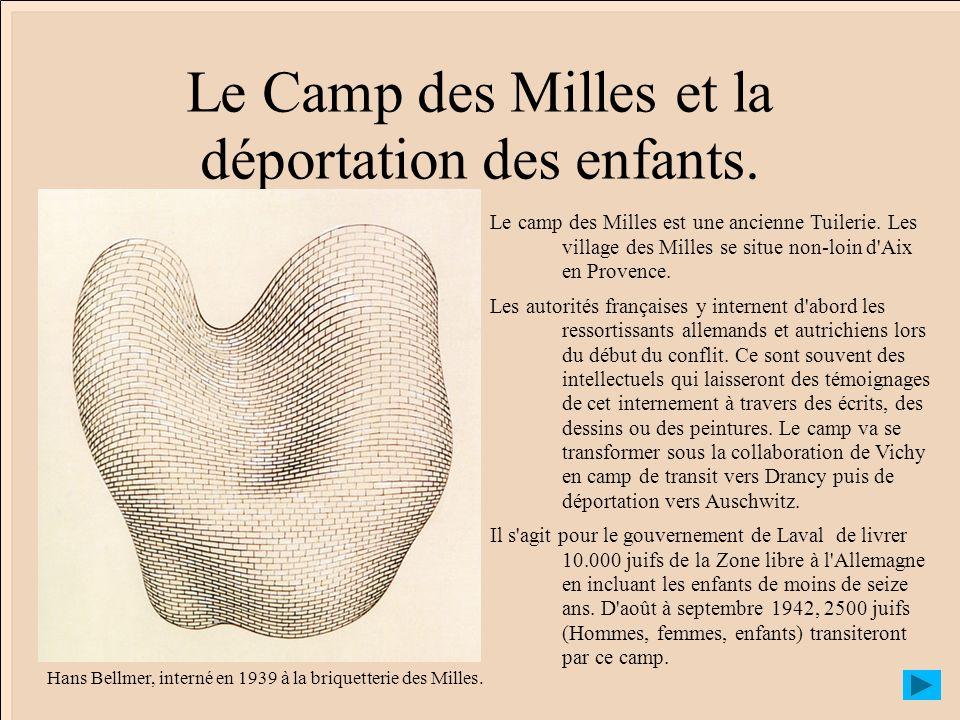 Le Camp des Milles et la déportation des enfants.