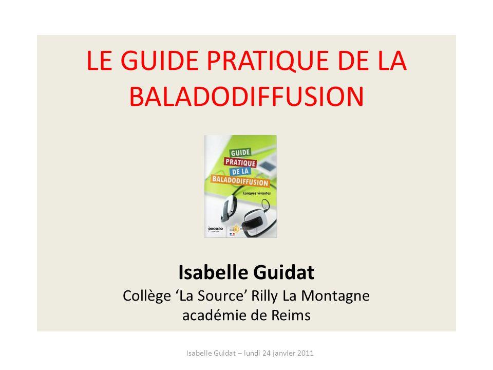 Isabelle Guidat – lundi 24 janvier 2011