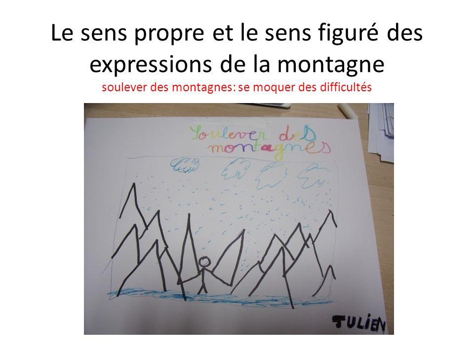 Le sens propre et le sens figuré des expressions de la montagne soulever des montagnes: se moquer des difficultés
