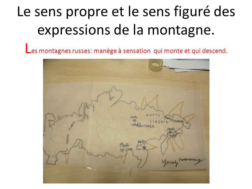 Le sens propre et le sens figuré des expressions de la montagne