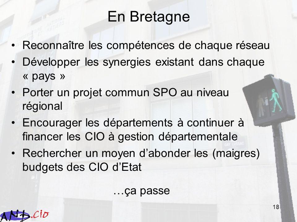 En Bretagne Reconnaître les compétences de chaque réseau