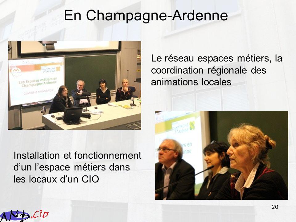 En Champagne-Ardenne Le réseau espaces métiers, la