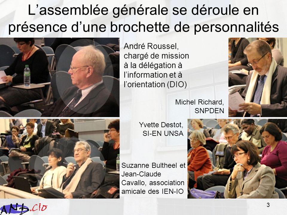 L'assemblée générale se déroule en présence d'une brochette de personnalités