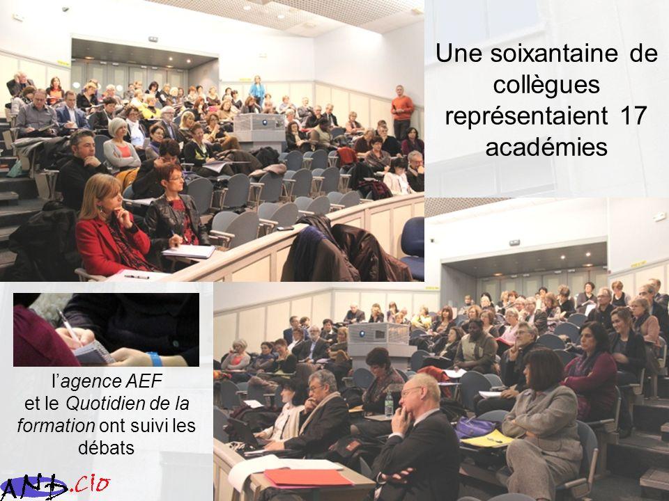 Une soixantaine de collègues représentaient 17 académies