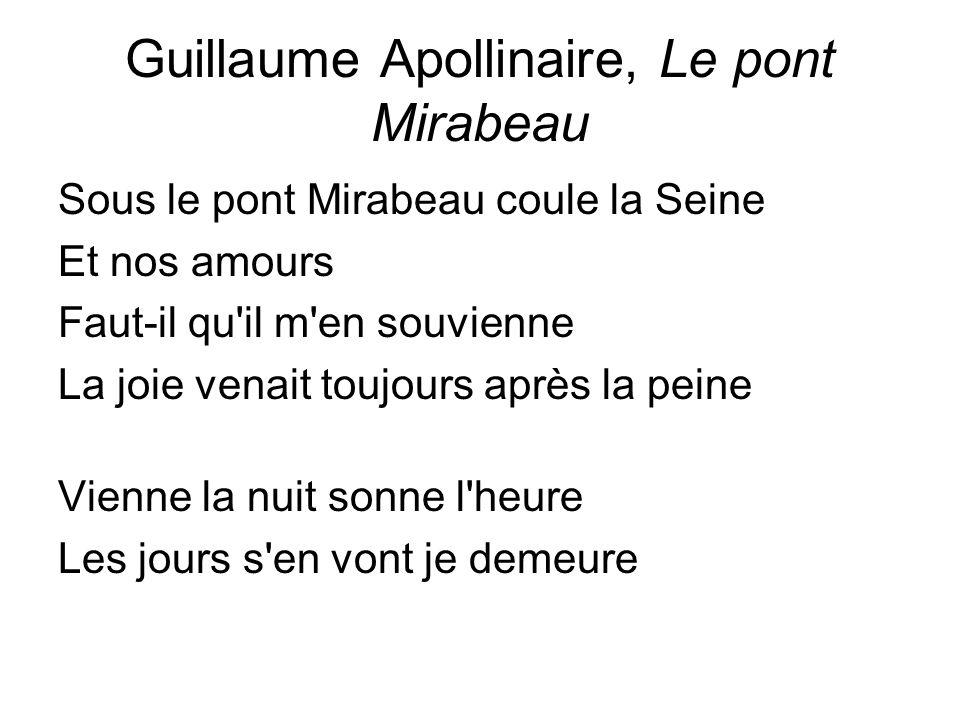 Guillaume Apollinaire, Le pont Mirabeau