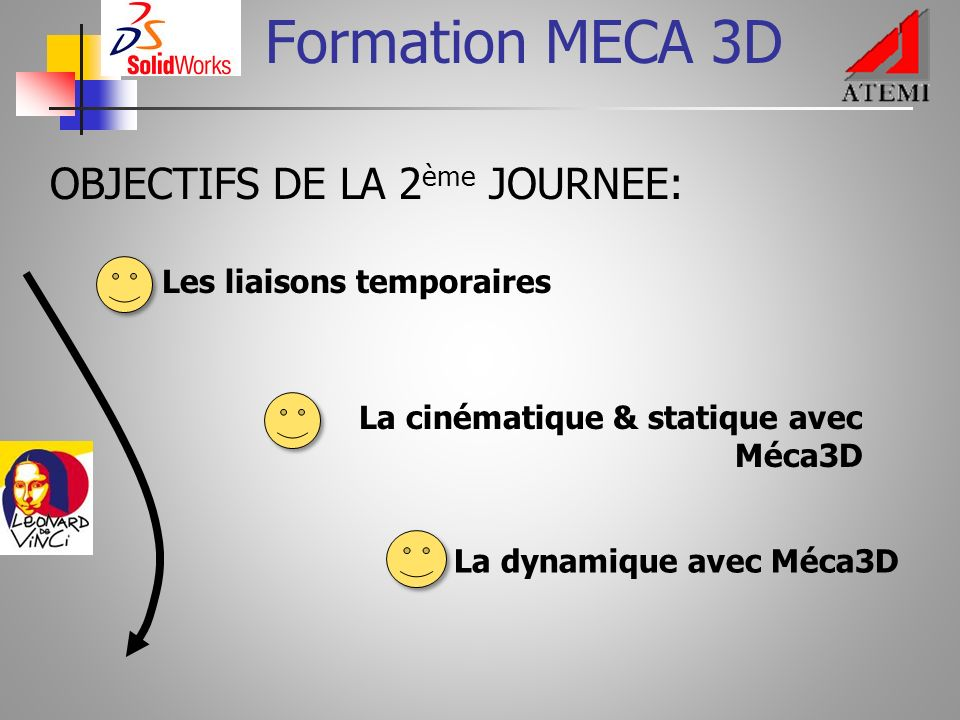 Formation MECA 3D OBJECTIFS DE LA 2ème JOURNEE: