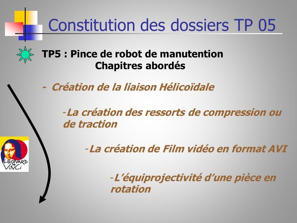 Constitution des dossiers TP 05