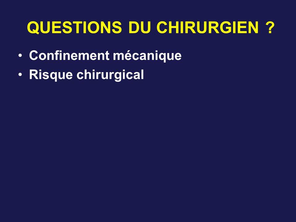 QUESTIONS DU CHIRURGIEN