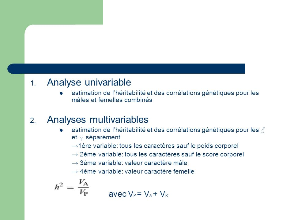 Analyses multivariables