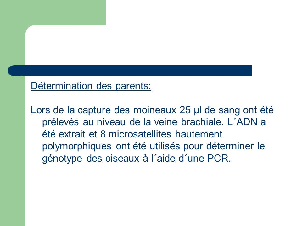 Détermination des parents: