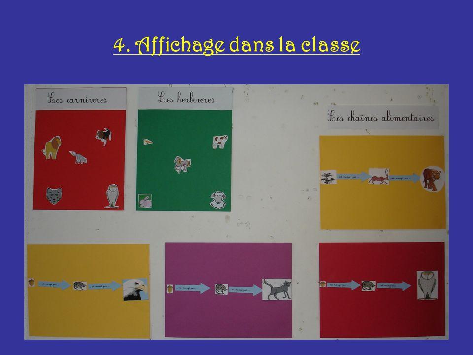 4. Affichage dans la classe