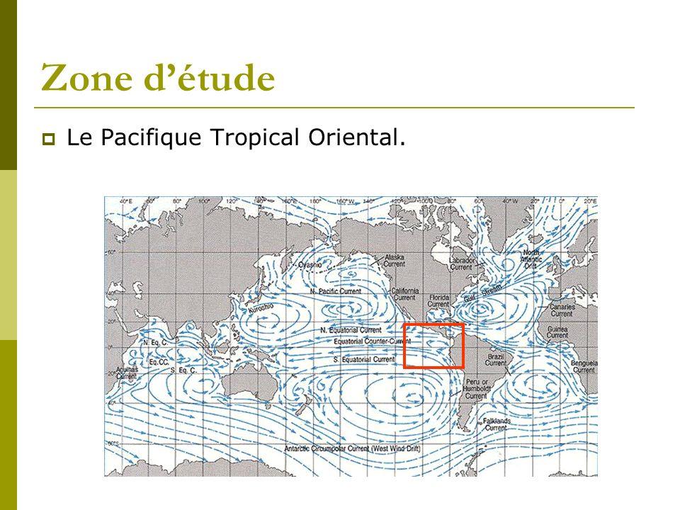 Zone d'étude Le Pacifique Tropical Oriental.