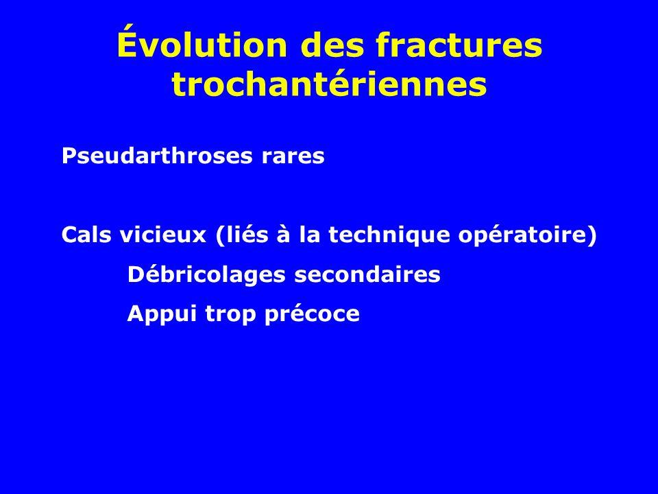 Évolution des fractures trochantériennes