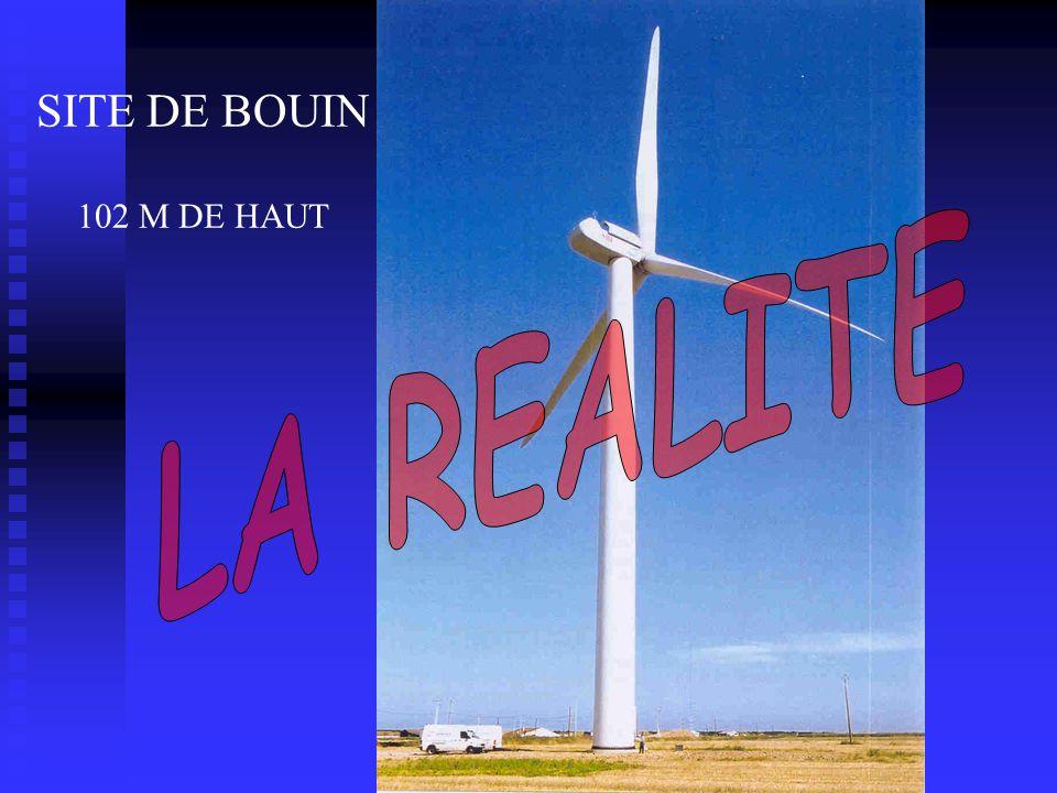 SITE DE BOUIN 102 M DE HAUT LA REALITE