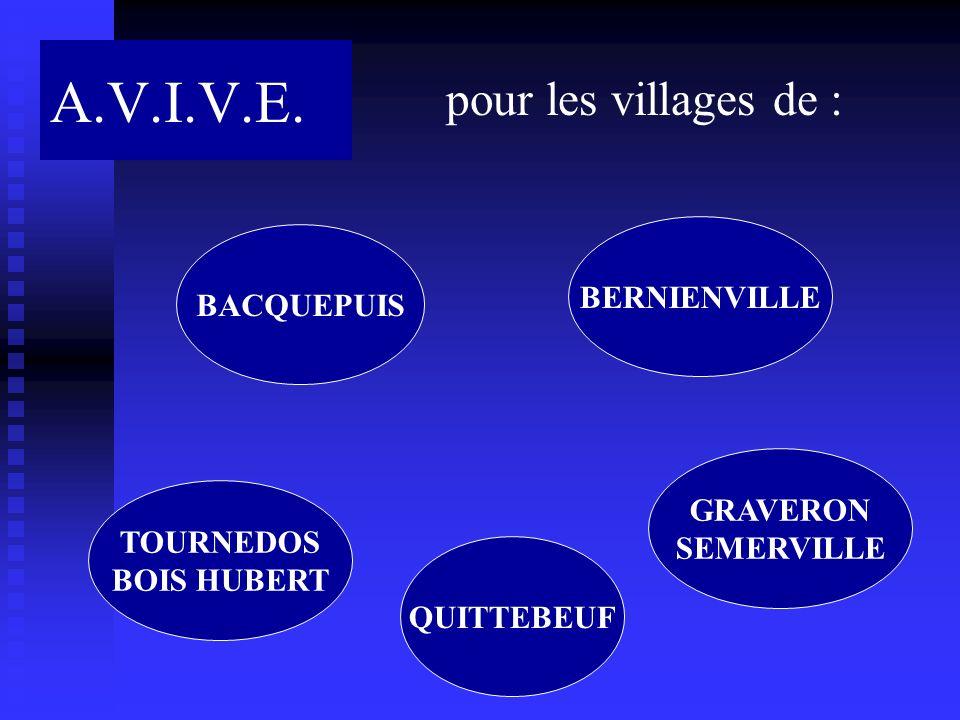 A.V.I.V.E. pour les villages de : BERNIENVILLE BACQUEPUIS GRAVERON