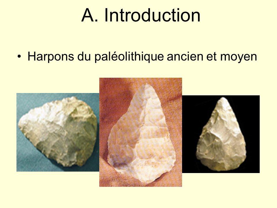 A. Introduction Harpons du paléolithique ancien et moyen