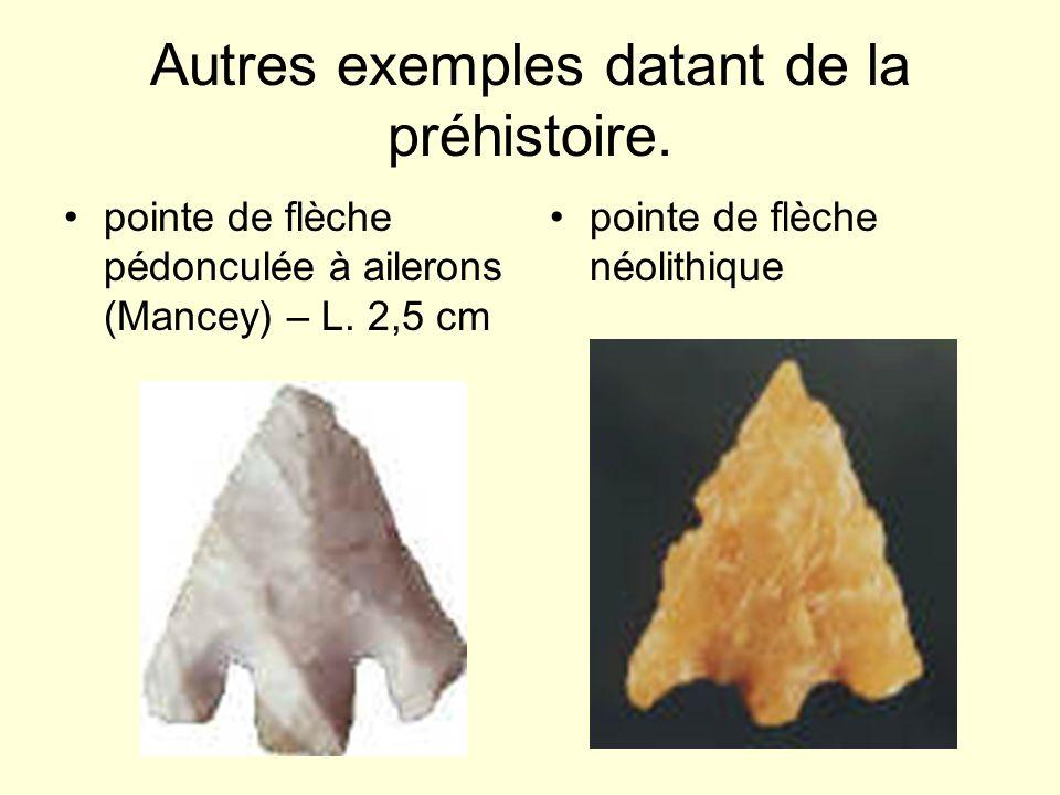 Autres exemples datant de la préhistoire.