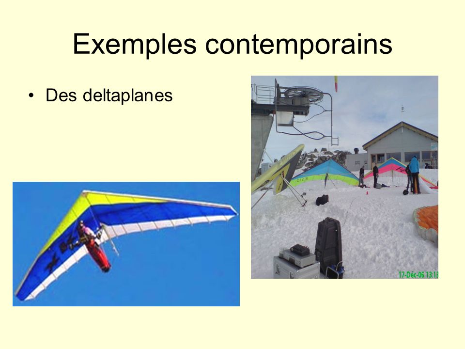 Exemples contemporains