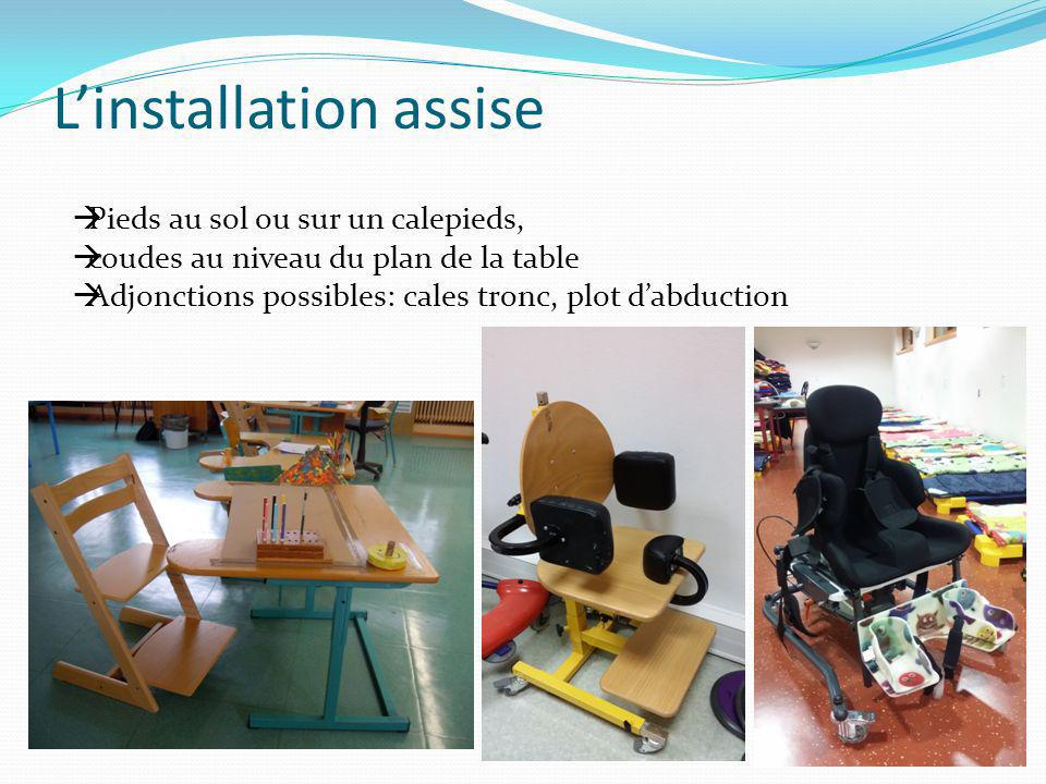 L'installation assise