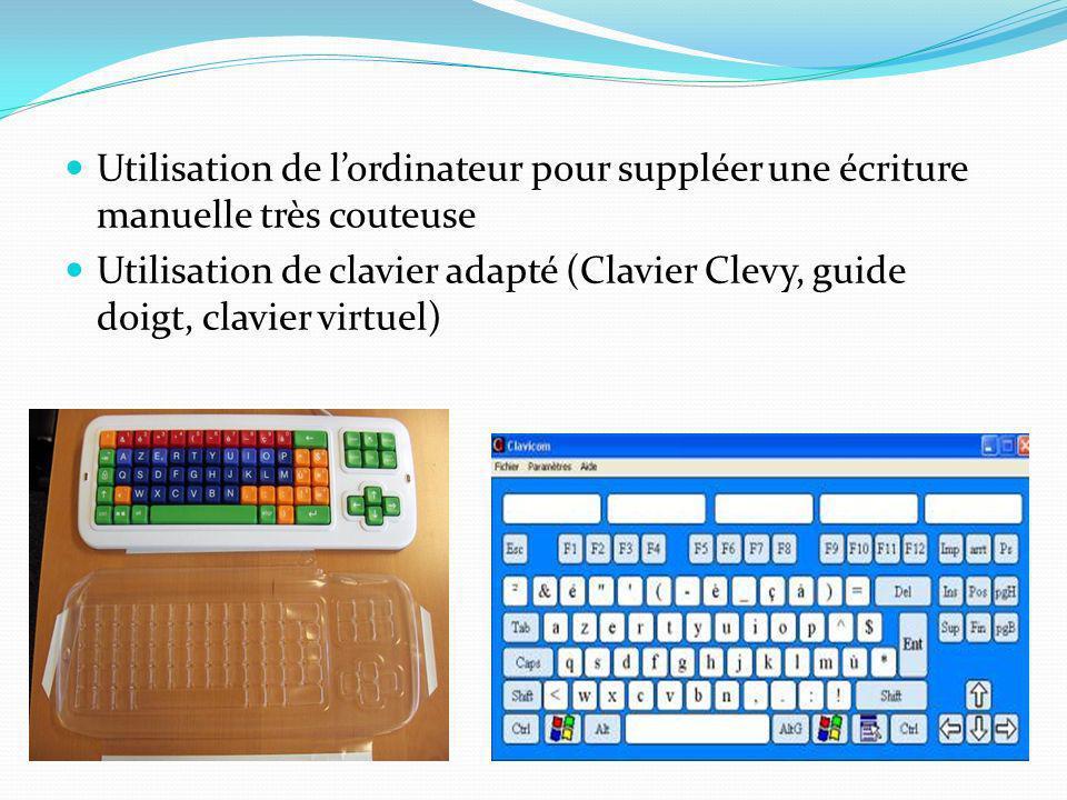 Utilisation de l'ordinateur pour suppléer une écriture manuelle très couteuse