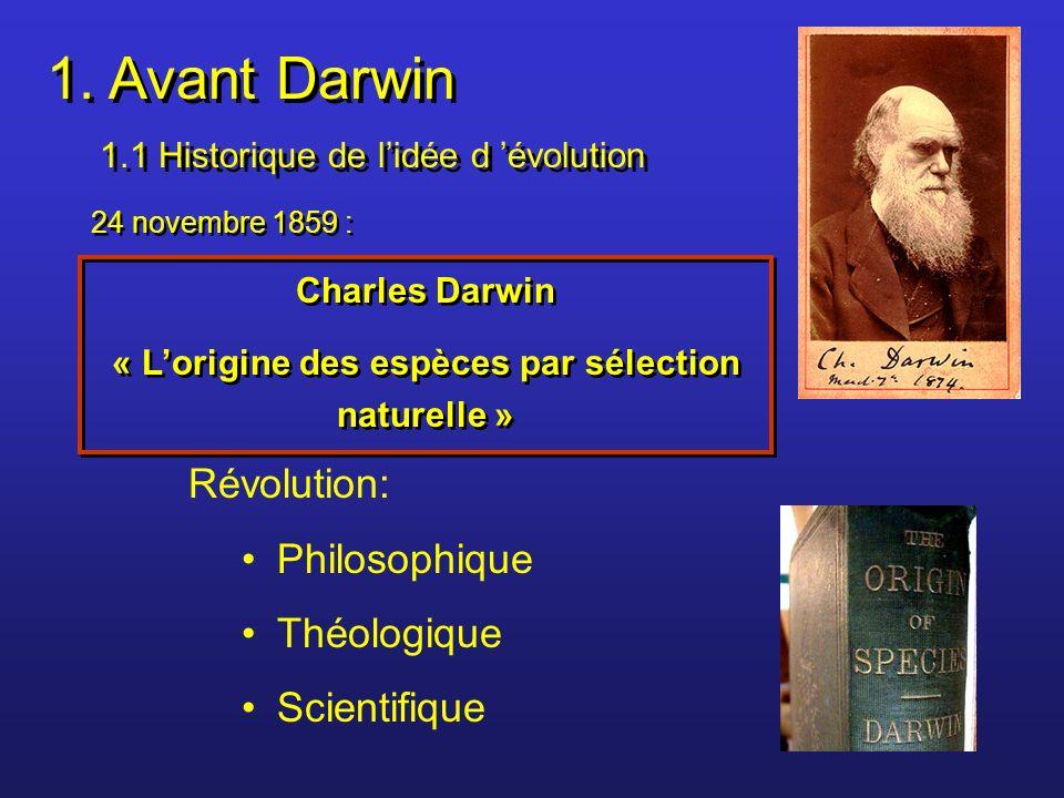 « L'origine des espèces par sélection naturelle »