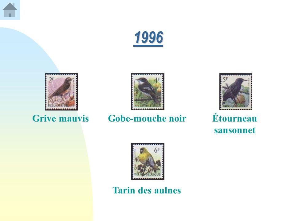 1996 Grive mauvis Gobe-mouche noir Étourneau sansonnet