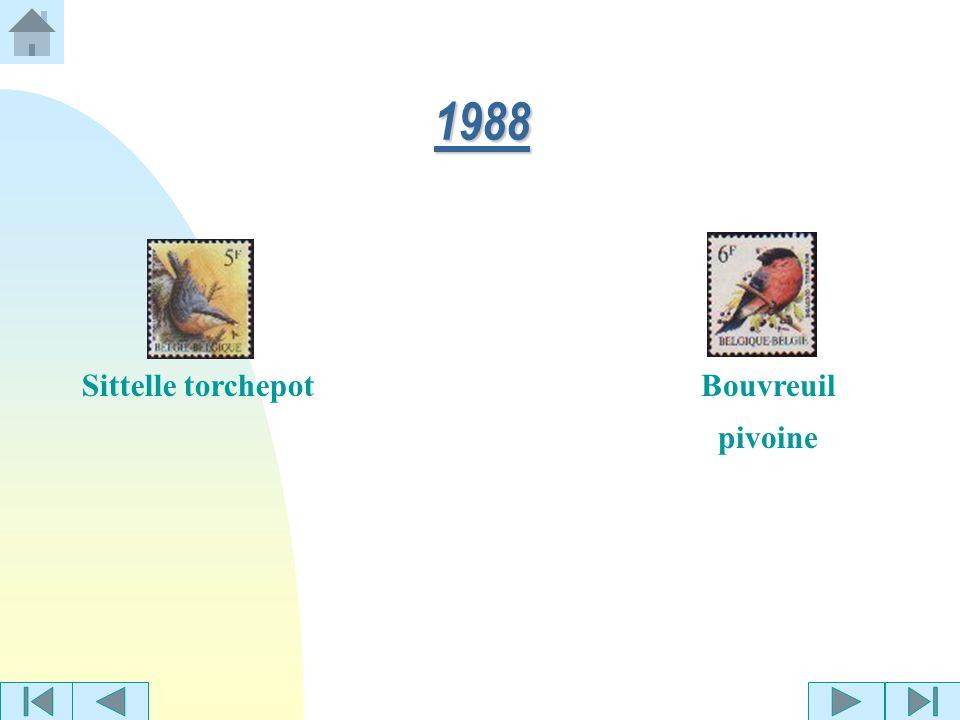 1988 Sittelle torchepot Bouvreuil pivoine