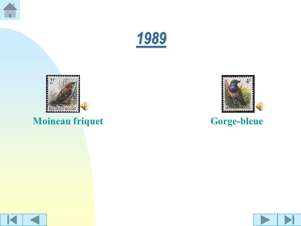 1989 Moineau friquet Gorge-bleue