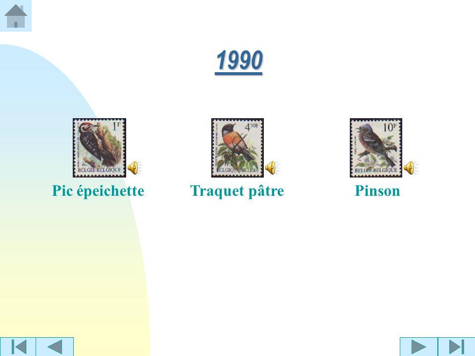 1990 Pic épeichette Traquet pâtre Pinson