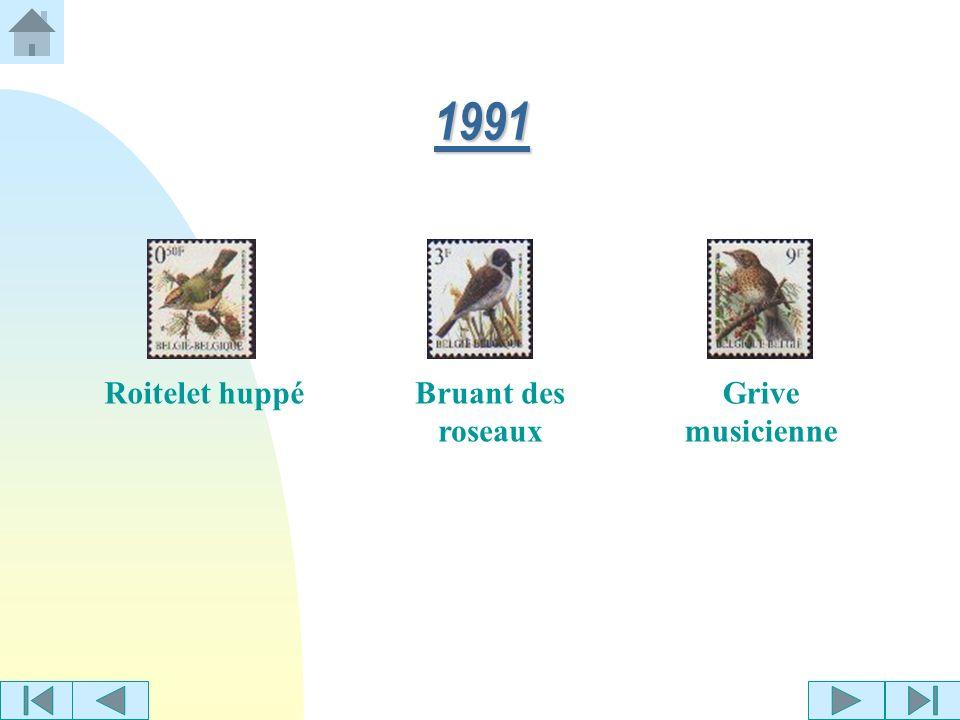 1991 Roitelet huppé Bruant des roseaux Grive musicienne