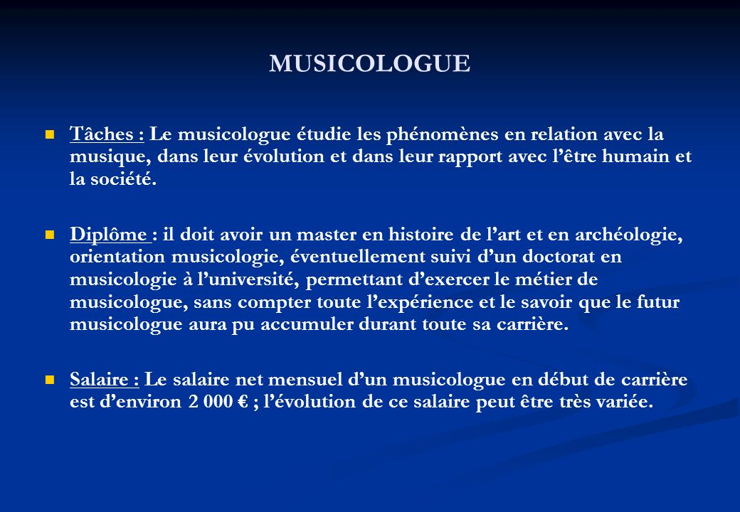 MUSICOLOGUE