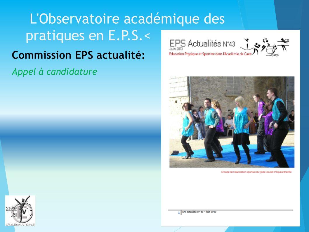 L Observatoire académique des pratiques en E.P.S.<