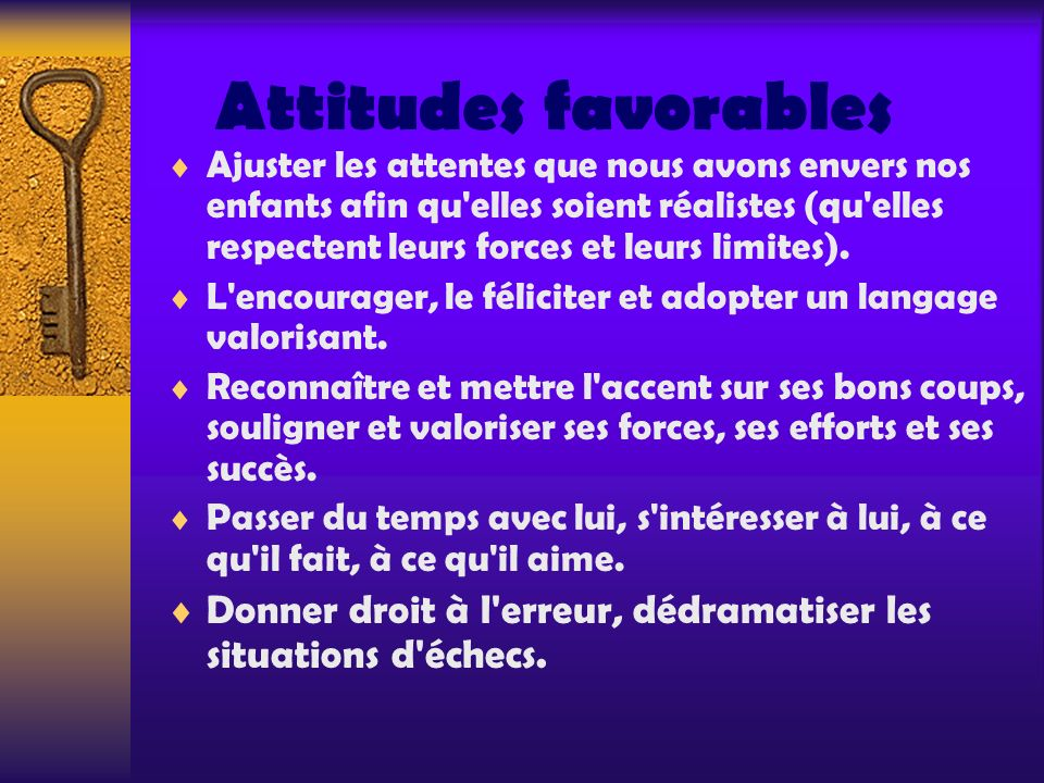 Attitudes favorables