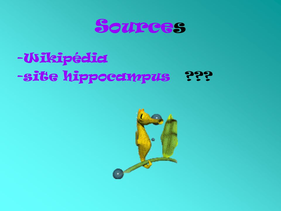 Sources -Wikipédia -site hippocampus