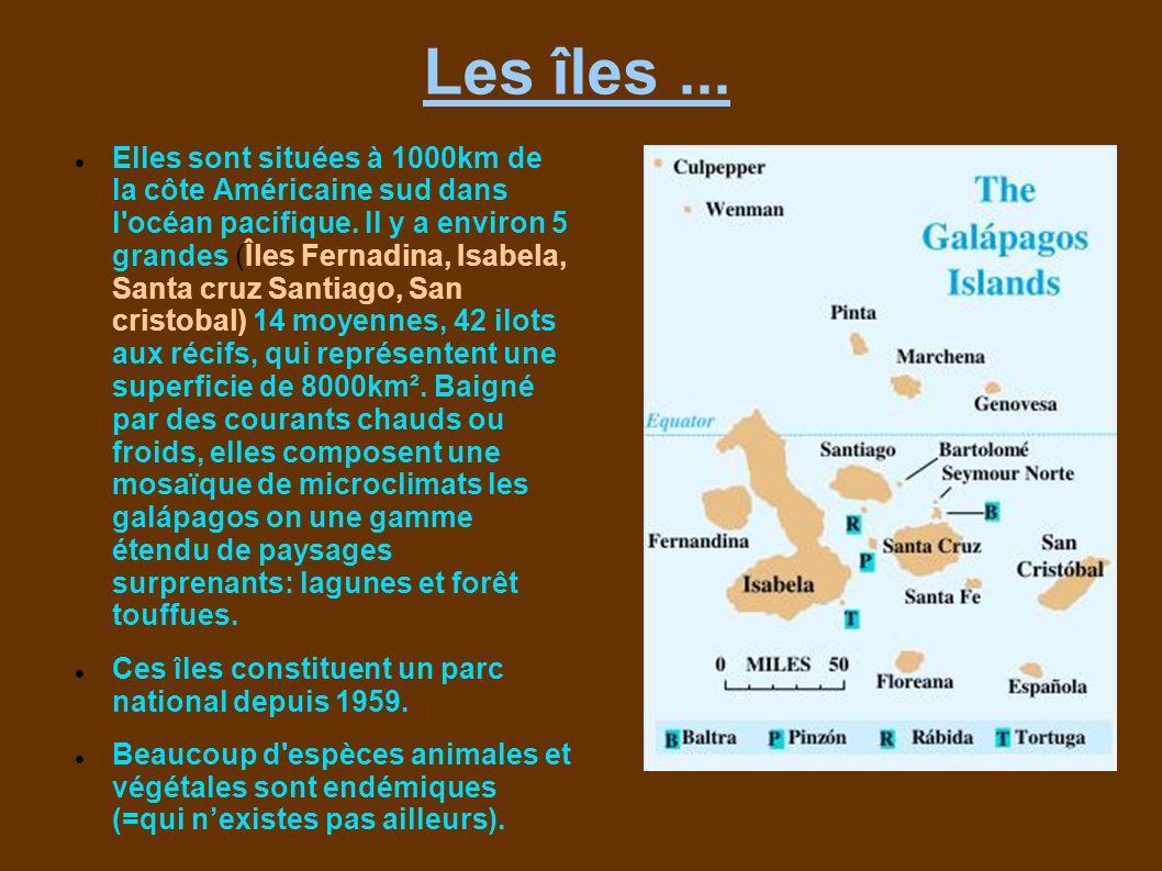Les îles ...