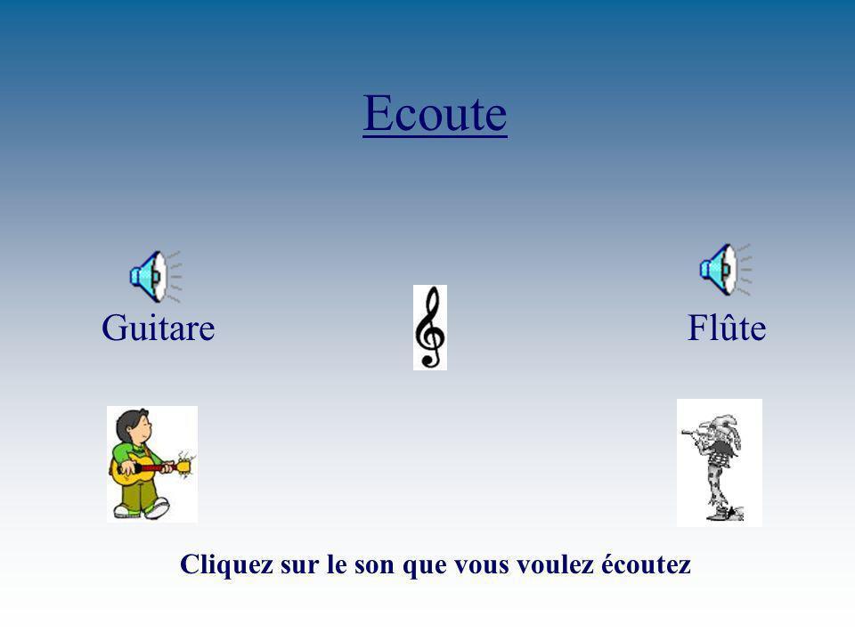 Ecoute Guitare Flûte Cliquez sur le son que vous voulez écoutez