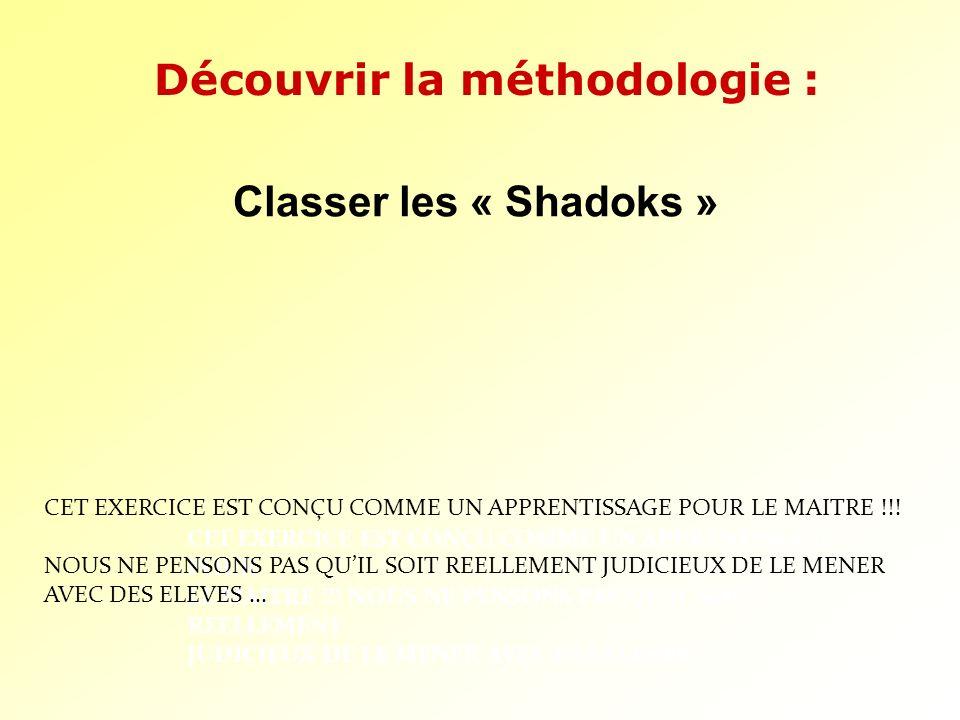 Découvrir la méthodologie :